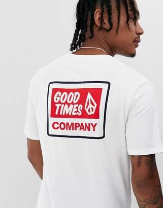 Volcom good times back print t-shirt-White