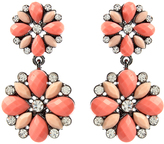 Amrita Singh Light Coral & Austrian Crystal Riri Petite Drop Earrings