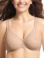 Olga Women's Sheer Leaves Minimizer Bra