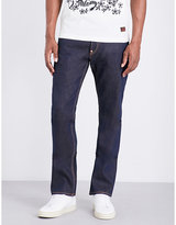 Evisu Regular-fit Metallic-print Jeans