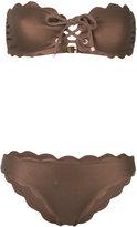 Marysia Swim scalloped strapless bikini set - women - Polyamide/Spandex/Elastane - XS