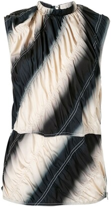 3.1 Phillip Lim Tie-Dye Silk-Blend Sleeveless Top