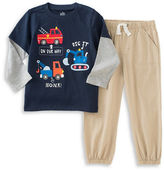Kids Headquarters Baby Boys Two Piece T Shirt and Drawstring Pants Set