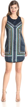 Greylin Women's Azteca Embroidered Shift Dress