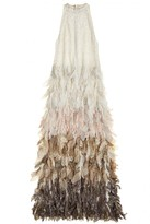 Calypso St. Barth Aru Sequin Embellished Silk Petal Dress