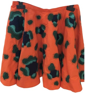 Kenzo Orange Cotton Skirt for Women