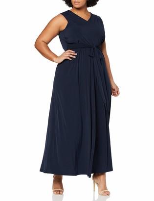 Ulla Popken Women's Kleid mit V-Ausschnitt Party Dress