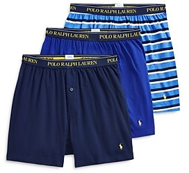 Polo Ralph Lauren Cotton Knit Classic Fit Boxers - Pack of 3