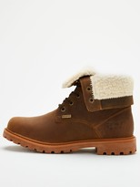 Barbour Hamsterly Roll Top Leather Boot - Brown