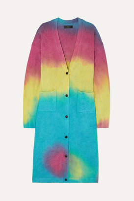 Amiri Tie-dyed Cashmere And Wool-blend Cardigan - Pink