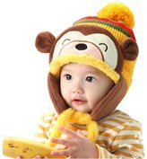 Changeshopping 1 PC Fashion Winter Warm Kids Baby Ear Thick Knit Beanie Cap Hat