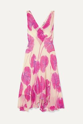 Diane von Furstenberg Dita Printed Silk-crepon Dress - Pink