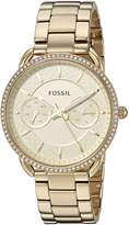 Fossil Women's 'Tailor' Quartz Stainless Steel Casual Watch, Color:-Toned (Model: ES4263)