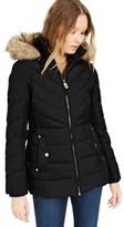 Michael Kors Michael Hooded Faux-Fur-Trim Down Puffer Coat, Created for Macy's