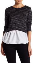 Cotton Emporium Long Sleeve Peplum Sweater