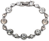 Givenchy Hematite-Tone Bezel-Set Crystal Link Bracelet