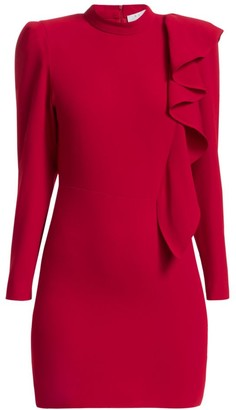 IRO Deteo Long-Sleeve Ruffle Mini Dress