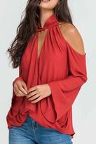Lush Clothing Cold Shoulder Halter Top