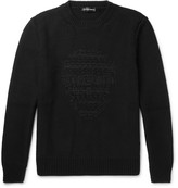 Alexander Mcqueen - Skull-embroidered Wool And Cashmere-blend Sweater