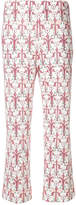 Prada cropped floral print trousers