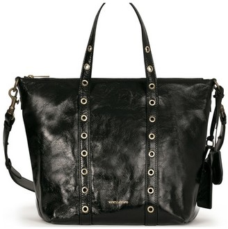 Vanessa Bruno Small Crinckled Leather Zippy Bag