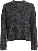 ATM Anthony Thomas Melillo French Terry Animal Print Sweatshirt
