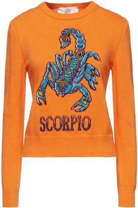 Alberta Ferretti Love Me Starlight Scorpio Intarsia-knit Sweater