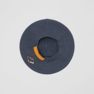 Burberry Logo Graphic Merino Wool Beret