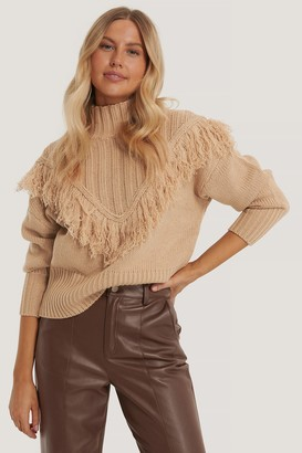 NA-KD Fringed Knitted Sweater