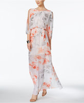 Vince Camuto Cold-Shoulder Printed Maxi Dress