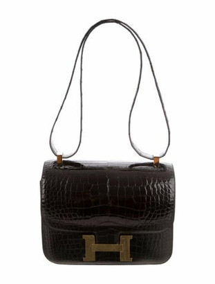 Hermes 2018 Alligator Constance 24 Black