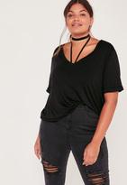 Missguided Plus Size Boyfriend T-Shirt Black