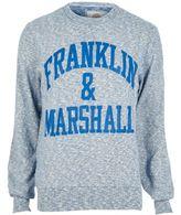 River Island MensBlue Franklin & Marshall sweatshirt