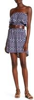 Loveappella Strapless Ruffle Popover Dress