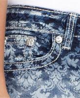 Miss Me Jeans, Cropped Printed Medium-Wash