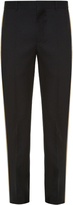 Alexander McQueen Contrast-piping slim-leg tailored trousers
