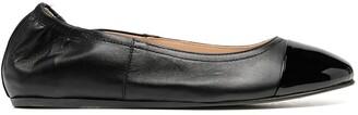 Lanvin Patent-Toecap Ballerina Shoes