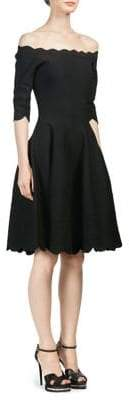 Alexander McQueen Off-The-Shoulder Knee-Length Dress