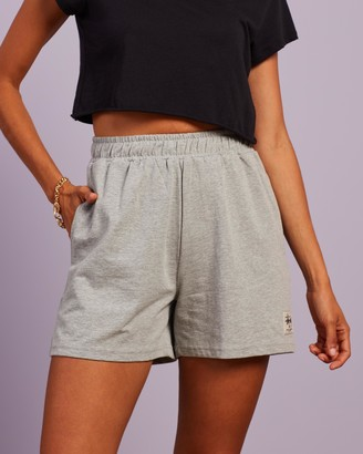 Stussy Women's Grey High-Waisted - Jerome High-Waisted Shorts - Size 6 at The Iconic