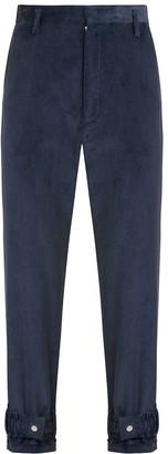 1x1studio Blue Cord Hem Strap Trousers