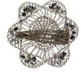 Colette Malouf Crochet Wire/Crystal Mandevilla Snap Clip, Black 1 ea