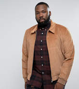 Asos PLUS Cord Harrington Jacket In Tan