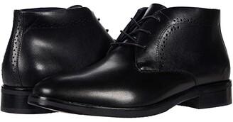 Johnston & Murphy Austin Chukka (Black Full Grain Leather) Men's Boots