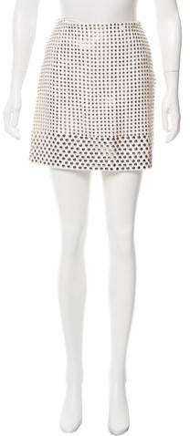 David Koma Embellished Mini Skirt w/ Tags