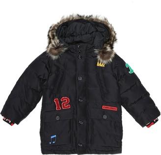 Dolce & Gabbana Kids Fur-trimmed embroidered jacket