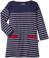 Jo-Jo JoJo Maman Bebe Breton Dress (Baby) - Navy/Cream Stripe-6-12 Months