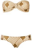 Adriana Degreas - bandeau bikini set - women - Polyamide/Spandex/Elastane - P