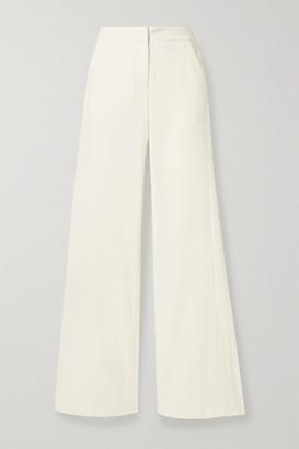 Halston Crepe Wide-leg Pants - Ivory