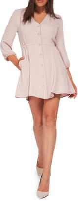 Dex Button-Front Mini Dress