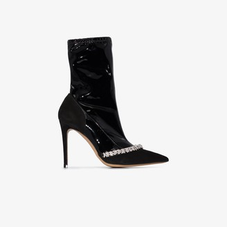 Alexandre Vauthier Ane 100mm crystal ankle booties